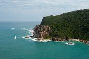 View of the Western Head and Knysna lagoon from Eastern Head Viewpoint, Knysna, Western Cape, South Africa