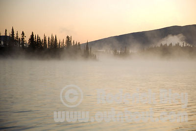 Early Morning Mist on Boya Lake
