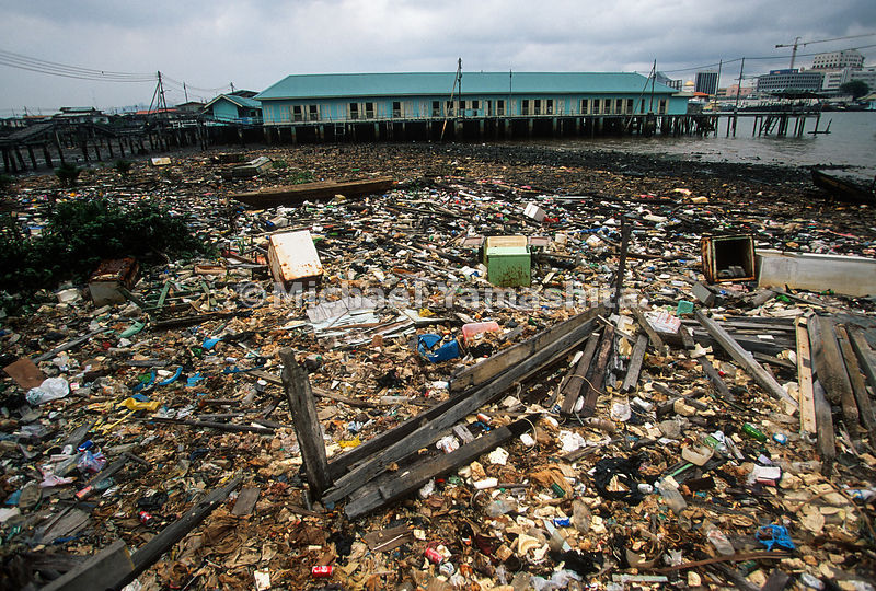 Refuse is supposed to disappear with the tide down river. Brunei