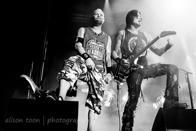 Ivan Moody and Jason Hook, Five Finger Death Punch, Aftershock 2013