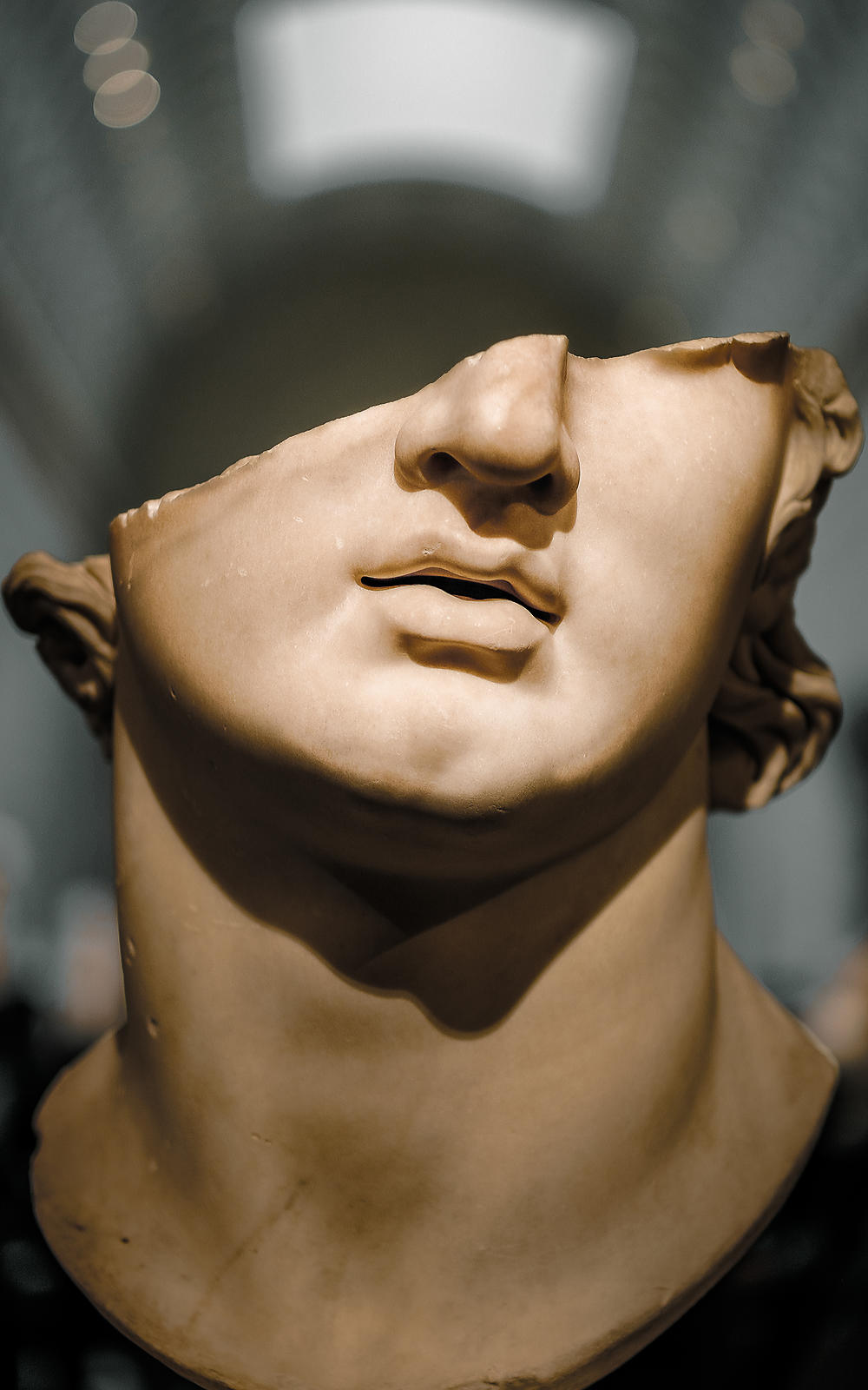 Head in Metropolitan Museum, New York