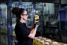Diageo, Leven, Scotland..3.9.15.The Diageo bottling plant in Leven, Fife..Photographed for Findlay Media - Factory of the Yea...