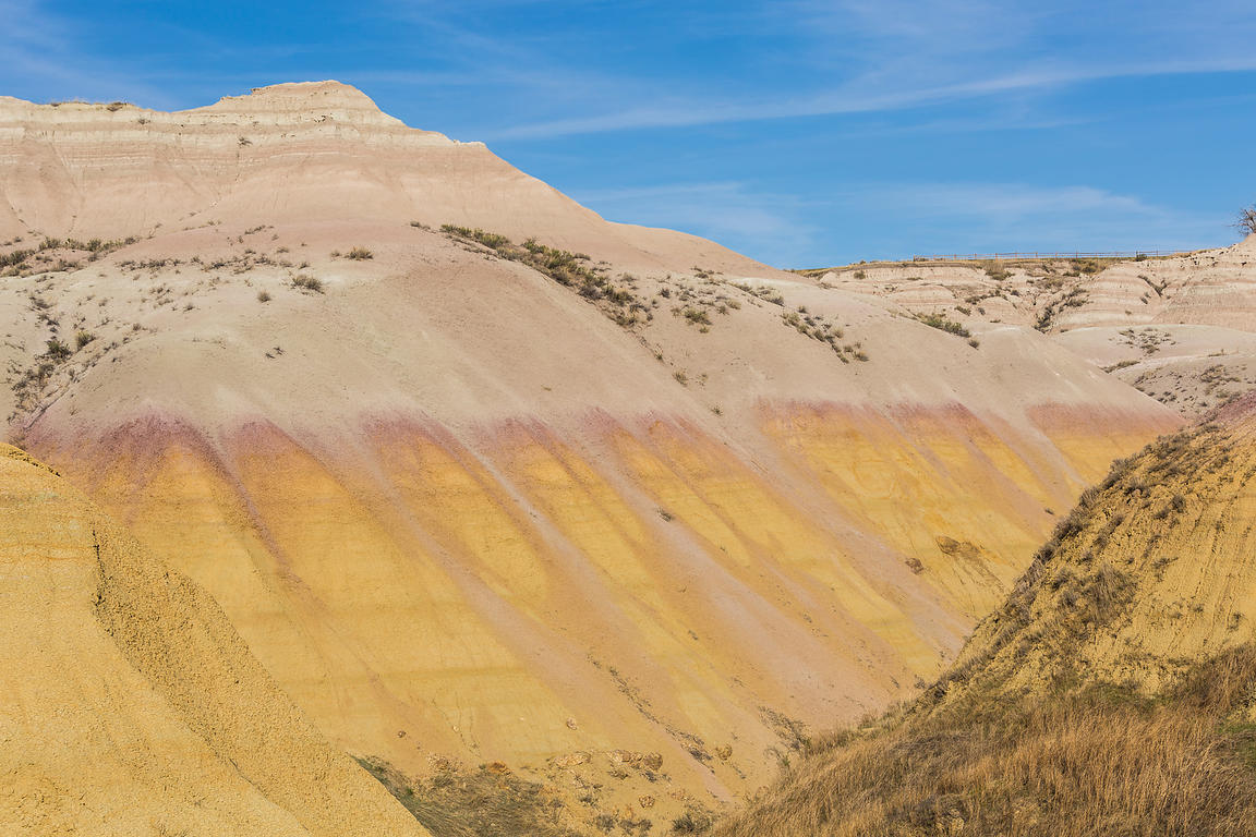 Yellow Mounds Formation in Badlands National Park