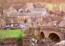 The small traditional rural village of Blanchland in County Durham, England, UK.
