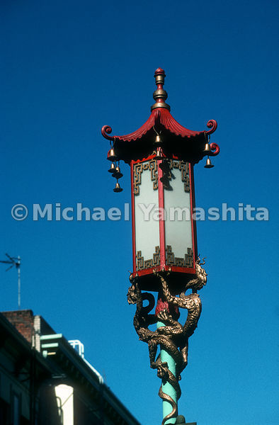 Chinatown Lamp post.San Francisco, California