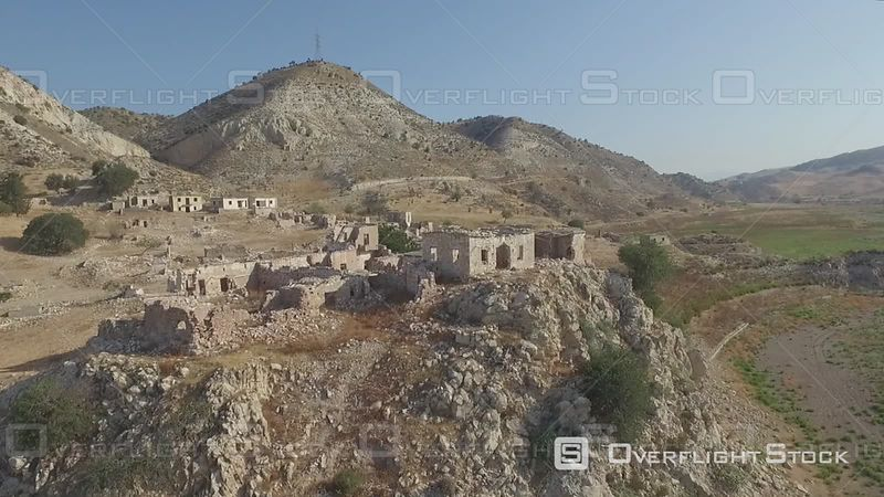 Abandoned Village of Phinikas Foinikas Village Drone Video Cyprus