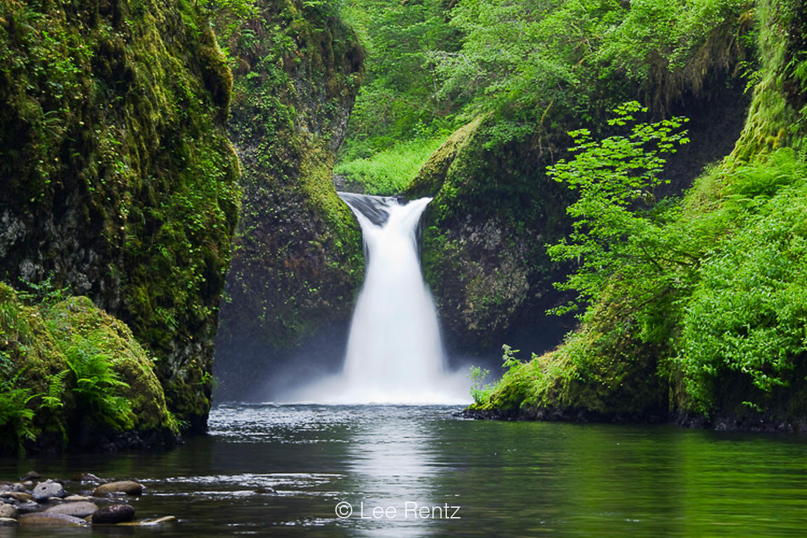 Punchbowl Falls along Eagle Creek in Columbia River Gorge