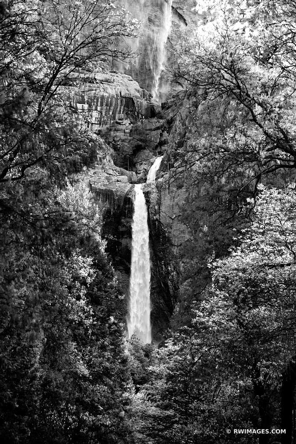 UPPER AND LOWER YOSEMITE FALLS YOSEMITE NATIONAL PARK BLACK AND WHITE