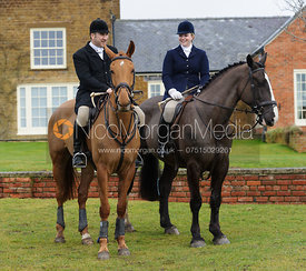 Russell Cripps and Lara Hellyer - The Cottesmore Hunt at Bleak House