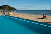 Swimming pool of beach hotel, Nosy Be, Madagascar