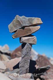 Rocks Neatly Stacked along Pacific Crest Trail