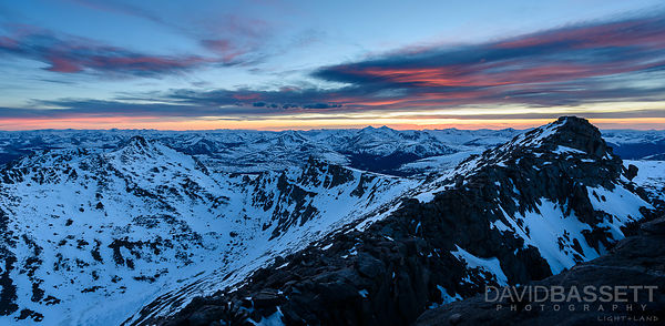 Sunset over Grays and Torreys | Mt. Evans, CO