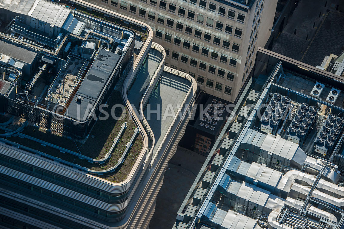 Aerial view of London, Haymarket at St James's.