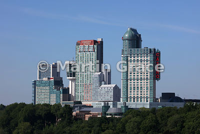 Tourist high-rise buildings of Niagara Falls, Ontario, Canada