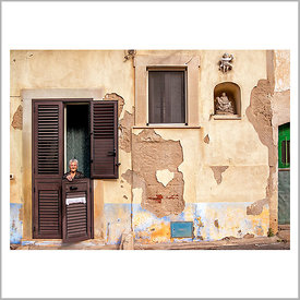 23rd November 2014 - Scicli, Sicily (Italy) - A True Sicilian Woman - This old little lady has had 11 children, but she has b...