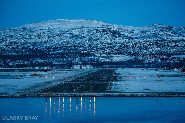 Airport runway in Alta Norway