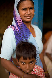 India - Ghaziabad - Santosh Devi, 38 after her cataract surgery