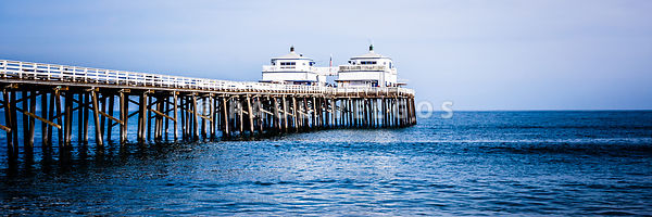 Panoramic Picture of Malibu Pier in Malibu California