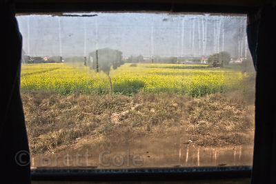 Outskirts of Delhi, India from a train window