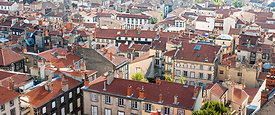 Panorama of Clermont Ferrand roofs