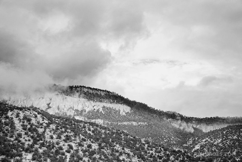 JEMEZ MOUNTAINS CLOUDY DAY JEMEZ SPRINGS NEW MEXICO BLACK AND WHITE
