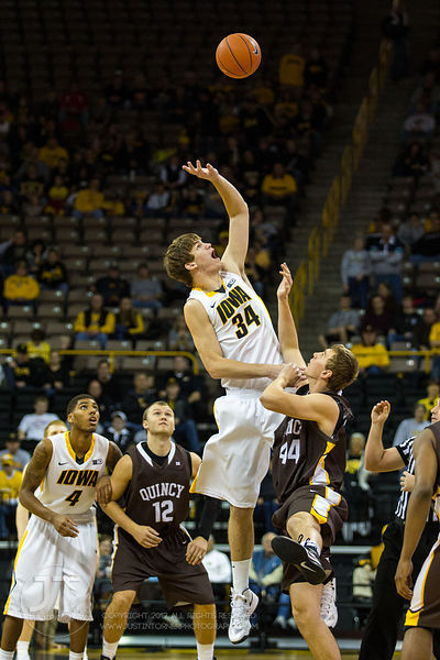 Quincy vs Iowa Mens Basketball Exhibition Game, November 4, 2012