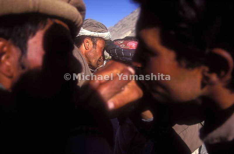 The Shah of Wakhan, said Ismail, greets his subjects with a traditional salute.