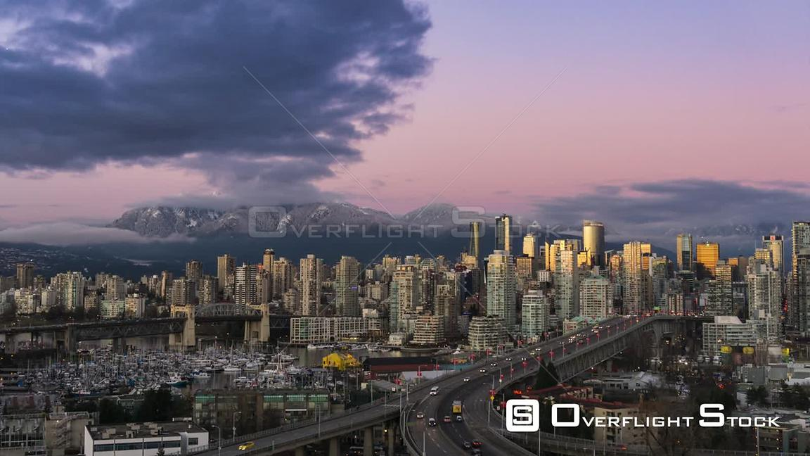 Time-lapse of Downtown Vancouver at Sunset
