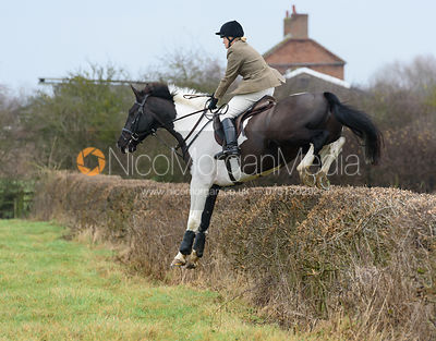 Georgie Mason jumping Hose Thorns - The Belvoir at Long Clawson 10/12