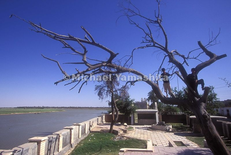 Garden of Eden- the site, though obviously not the tree at the junture of the Tigris and Euphrates river. Now a sad site not ...