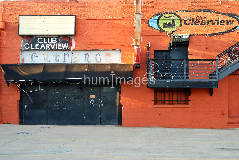Club Clearview entrance in Deep Ellum area of Dallas, Texas