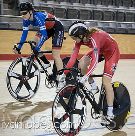 Junior Women Sprint 1/2 Final. Ontario Track Provincial Championships, March 5, 2016