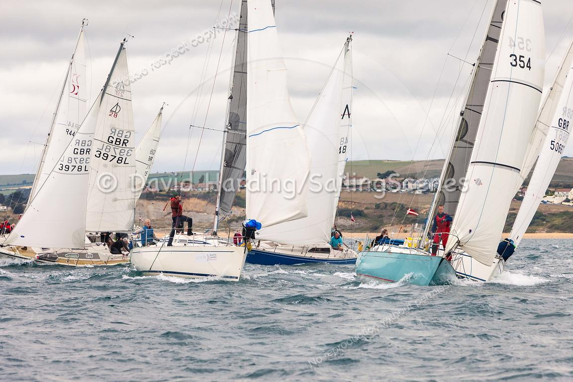 IRC 4 start, Weymouth Regatta 2018, 201809081106.