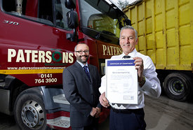 Patersons Waste Management, Mount Vernon, Glasgow..8.9.15.Iain MacArthur (white shirt - General manager of Patersons Waste Ma...