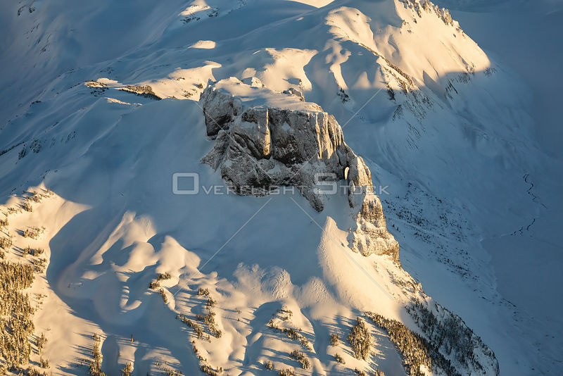 Winter Scenic of Table Mountain Garibaldi Park BC Canada