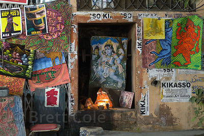 Hindu posters and artwork, Pushkar, Rajasthan, India