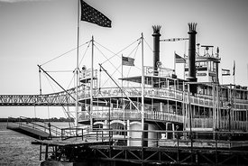 Natchez Steamboat in New Orleans Black and White Picture