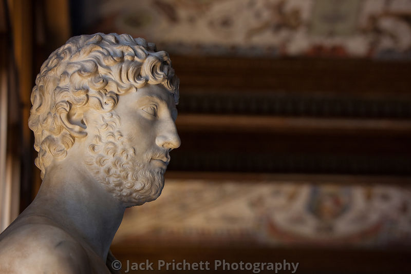 Sculpted head in Uffizi Gallery