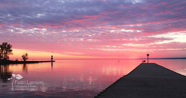 Sunrise at the North Pier Lighthouse