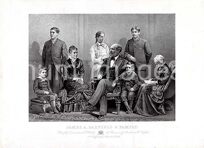 James A. Garfield and family ca 1881