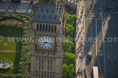 London. Aerial view of Big Ben