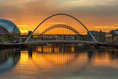 Sunset on the River Tyne