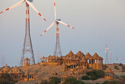 Windmills in the Thar Desert near Jaisalmer, Rajasthan, India