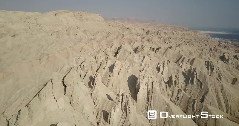 Flying over Mount Sodom and Dead Sea Israel