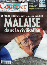 Courrier International Magazine. Jean-Marie Le Pen