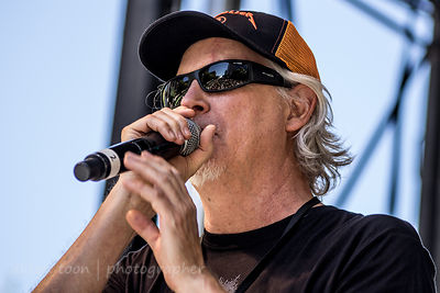 Pat Martin of 98 Rock announcing SacTown Rocks, 2014