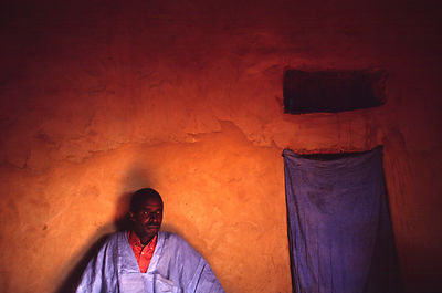 A man in his traditional house, Chinguetti, Mauritania
