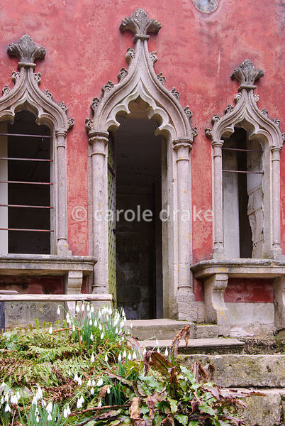 The Red House, typically rococo in being asymmetric. Painswick Rococo Garden, Painswick, Glos, UK