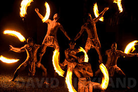 Fire knife dancing, Aitutaki