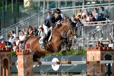 Jonna EKBEG, (SWE), AIR PIA VZ during Longines Cup of the City of Barcelona competition at CSIO5* Barcelona at Real Club de P...